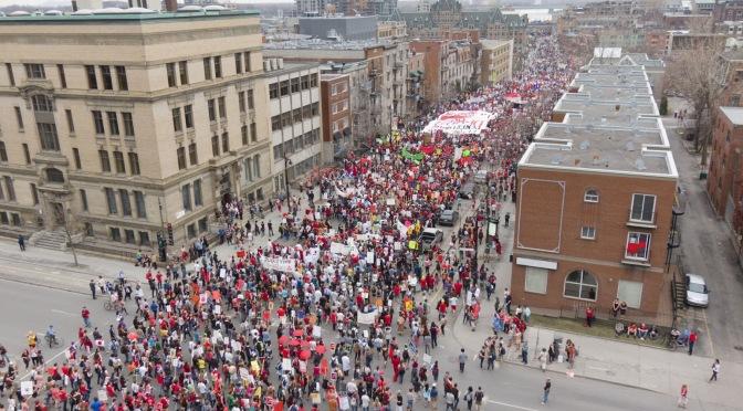 La révolte estudiantine québécoise se poursuit
