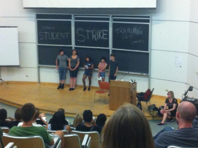 Ontario Student Strike Training Camp