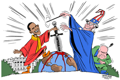 Hands Off Iran! Restore diplomatic relations! Dismantle all nuclear weapons, starting with those of the USA and Israel!