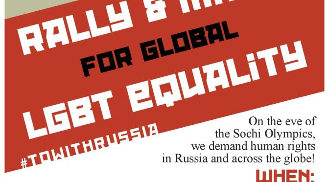 Rally and March for Global LGBT Equality!
