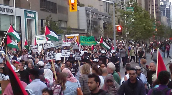 Huge rallies for Palestine in Toronto