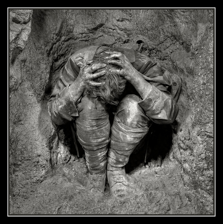 Shell Shock victim in trenches