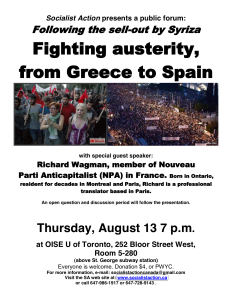 Fighting austerity richard wagman