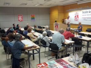 Socialist Action's forum 'Capitalist Austerity or Socialist Revolution - Greece and Beyond' at Toronto People's Social Forum on July 11, 2015.