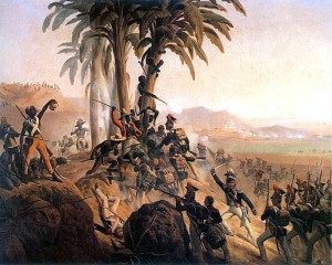 Battle between Polish troops in French service and the Haitian rebels.