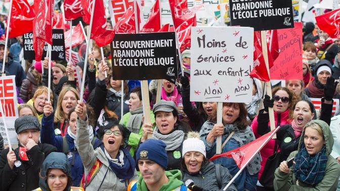 Biggest strikes in Quebec since 1972