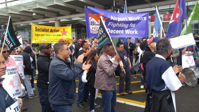Socialist Action walks in solidarity with striking Pearson International Airport workers