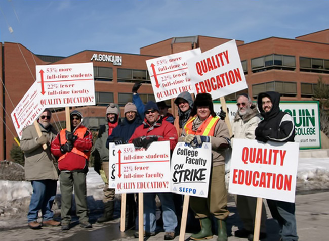 DEMISE OF ONTARIO FACULTY STRIKE