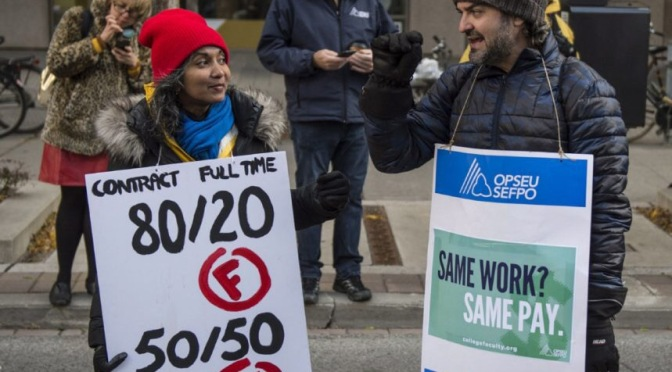 Ontario College Teachers fight for quality education, decent jobs, equity and a better future