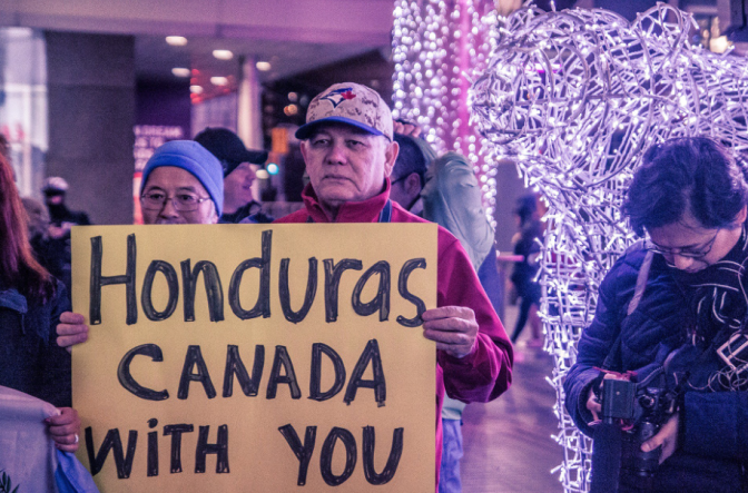 Rally in Toronto against electoral fraud, repression in Honduras – December 6, 2017