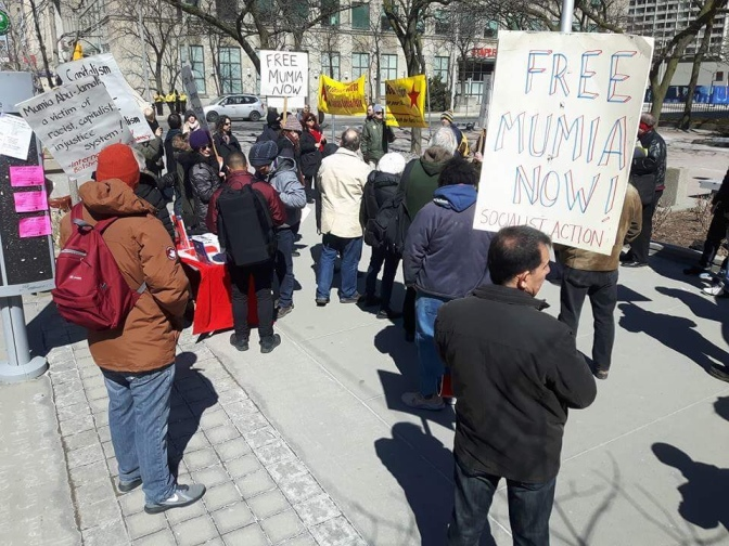 Rally to demand freedom for Mumia Abu Jamal