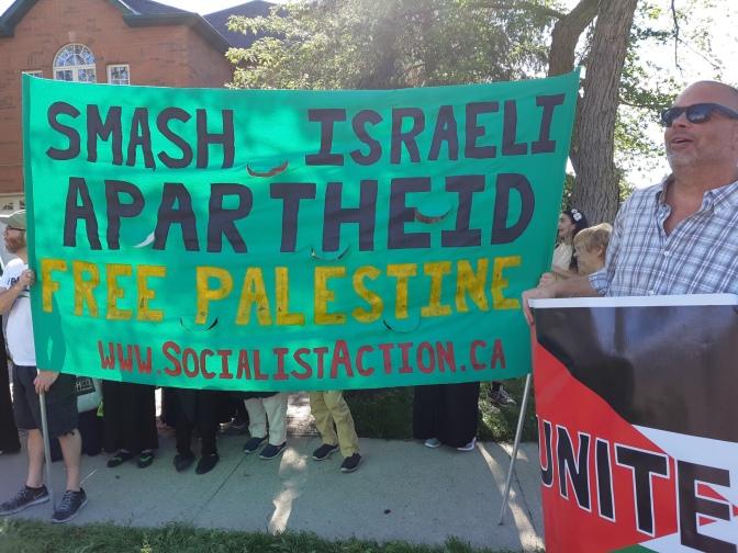 B'nai B'rith Smear Campaign Protest (Aug 29, Toronto)