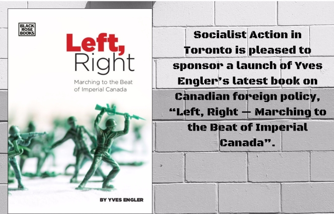 A Toronto launch of Yves Engler's latest book on Canadian foreign policy