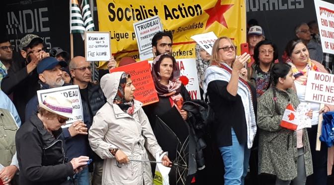 SA at Free Kashmir rally, Toronto September 15