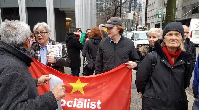 Socialist Action – British Columbia says No War on Iran!